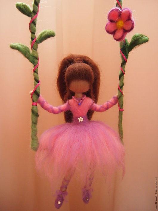 Подвески ручной работы. Ярмарка Мастеров - ручная работа. Купить Девочка на лианах. Handmade. Комбинированный, феечка, хендмейд, розовый