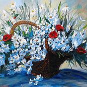 """Картины и панно ручной работы. Ярмарка Мастеров - ручная работа """"Танец солнечных бликов"""" картина маслом из серии """"Цветы для любимых"""". Handmade."""