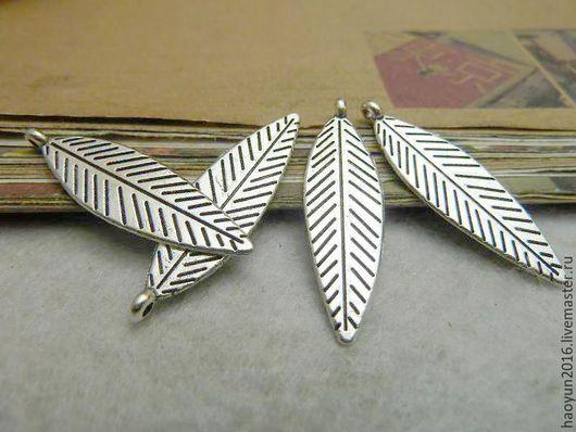Для украшений ручной работы. Ярмарка Мастеров - ручная работа. Купить 20 шт металлические подвески старинное серебро Дерево листьев C6984. Handmade.