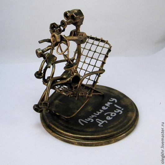 Миниатюрные модели ручной работы. Ярмарка Мастеров - ручная работа. Купить Самый лучший в мире дед. Handmade. Скульптурная миниатюра