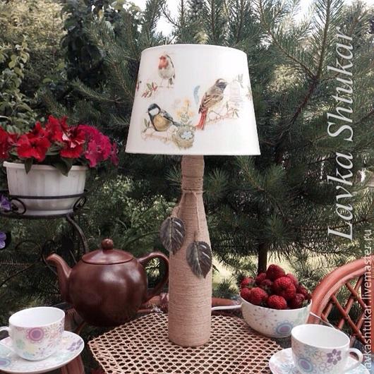 """Освещение ручной работы. Ярмарка Мастеров - ручная работа. Купить Настольный светильник """"Птицы в саду"""".Прованс, шебби, кантри, винтаж.. Handmade."""
