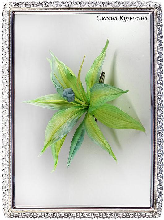 """Цветы ручной работы. Ярмарка Мастеров - ручная работа. Купить Цветы из ткани. Заколка """"Лилия Касабланка"""". Handmade. Цветы"""