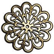 Материалы для творчества ручной работы. Ярмарка Мастеров - ручная работа Филигрань большая 60х60 арт.У-433 бронза. Handmade.