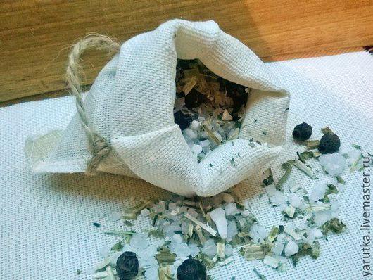 Соль для ванны ручной работы. Ярмарка Мастеров - ручная работа. Купить Травяной мешочек для ванны Пустырник и боярышник. Handmade. Белый