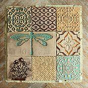 Для дома и интерьера ручной работы. Ярмарка Мастеров - ручная работа грибы и стрекозы. серия плитки. Handmade.