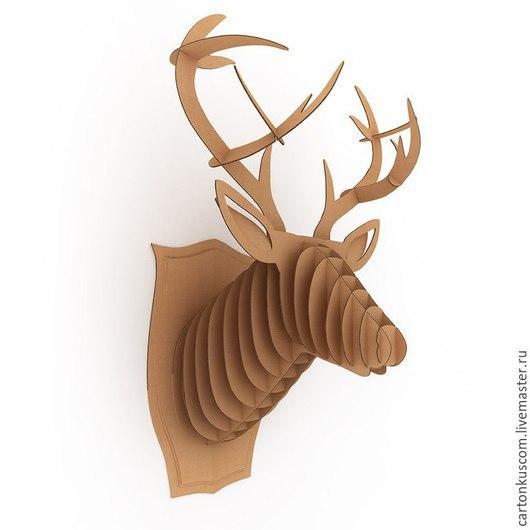 Интерьерная трофейная голова оленя для украшения квартиры, загородного дома, кафе или ресторана.