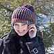 Шапки ручной работы. Шапочка бохо с помпоном.. Knitted fashion by Ekaterina Bykova. Ярмарка Мастеров. Шапка вязаная, бохо