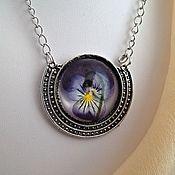 Украшения handmade. Livemaster - original item The viola pendant in silver frame. Handmade.