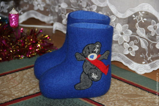 Детская обувь ручной работы. Ярмарка Мастеров - ручная работа. Купить Детские валенки. Handmade. Тёмно-синий, детские валенки