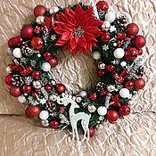Декор ручной работы. Ярмарка Мастеров - ручная работа Венок рождественский. Handmade.