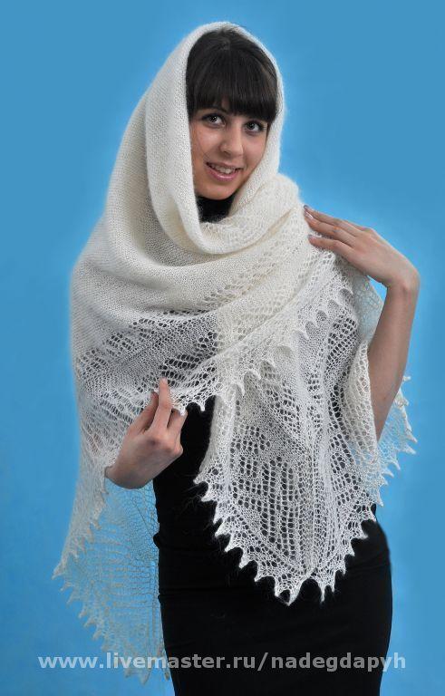 Shawls & Stoles handmade. Livemaster - handmade. Buy 25 downy shawl 'White shawl' Orenburg, accessories.Gift, shawl