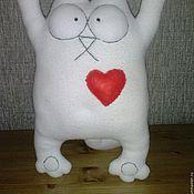 Куклы и игрушки ручной работы. Ярмарка Мастеров - ручная работа Котик с сердцем,игрушка мягкая,ручная работа. Handmade.