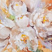 Картины и панно ручной работы. Ярмарка Мастеров - ручная работа Morning of white flowers. Handmade.