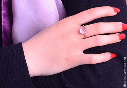 Кольца ручной работы. Ярмарка Мастеров - ручная работа. Купить Кольцо с природным розовым кристаллом из серебра. Handmade. Кольцо