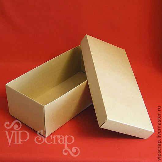 Упаковка ручной работы. Ярмарка Мастеров - ручная работа. Купить Коробка для кукол и игрушк из крафт-картона 380х170х120. Handmade. коробка