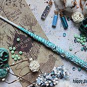 Субкультуры handmade. Livemaster - original item The author`s Magic wand Harry Potter mint white. Handmade.