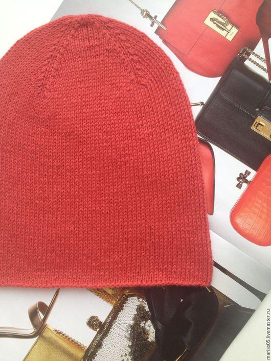 Шапки ручной работы. Ярмарка Мастеров - ручная работа. Купить Шапка бини. Handmade. Рыжий, шапка бини, шапка вязаная