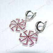 Русский стиль handmade. Livemaster - original item Earrings Carolers - Latency. Handmade.