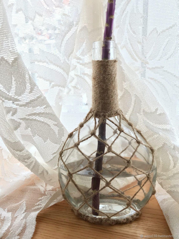 Декорированная бутылка-ваза