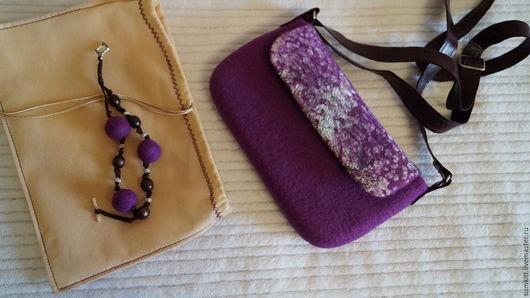 Женские сумки ручной работы. Ярмарка Мастеров - ручная работа. Купить Клатч с тканью. Handmade. Фиолетовый, сумка женская