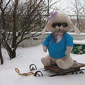 """Куклы и игрушки ручной работы. Ярмарка Мастеров - ручная работа Зайка """"Люси"""" Сухое валяние валяная зайка Авторская работа Зайчик войло. Handmade."""