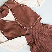 Одежда ручной работы. Ярмарка Мастеров - ручная работа Платье и жилет для девочки. Handmade.