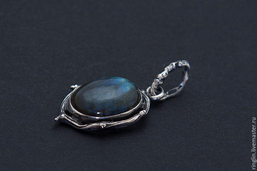 Silver pendant with labradorite, Pendants, Moscow,  Фото №1