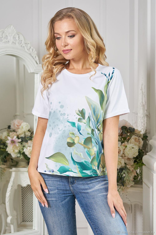 T-shirt ' Watercolor splashes', T-shirts, St. Petersburg,  Фото №1
