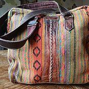 Классическая сумка ручной работы. Ярмарка Мастеров - ручная работа Хлопковая этническая сумка. Handmade.