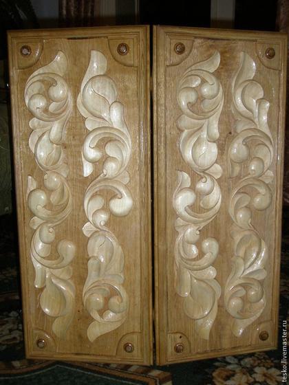 Подарочные наборы ручной работы. Ярмарка Мастеров - ручная работа Резные  нарды ручной работы из натурального дерева. Handmade.
