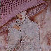 """Картины и панно handmade. Livemaster - original item Beaded pattern """"Openwork"""".. Handmade."""