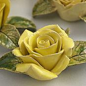 Для дома и интерьера handmade. Livemaster - original item Ceramic rose flower for interior. Handmade.