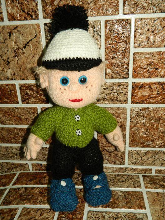 """Кукольный дом ручной работы. Ярмарка Мастеров - ручная работа. Купить кукла-пупс """"Егорка"""". Handmade. Зеленый, вязаная игрушка"""