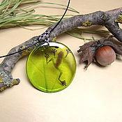 Украшения handmade. Livemaster - original item Transparent Pendant Green Frog Rustic Boho Swamp. Handmade.