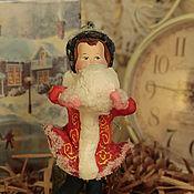 Подарки к праздникам ручной работы. Ярмарка Мастеров - ручная работа Ватная игрушка. Девочка лепит снеговика.. Handmade.