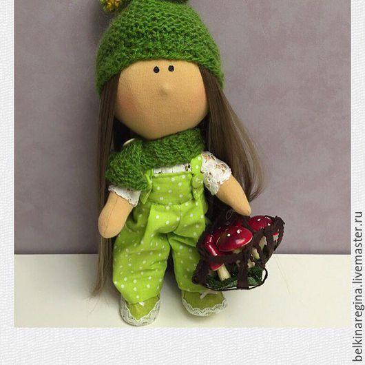 """Коллекционные куклы ручной работы. Ярмарка Мастеров - ручная работа. Купить Интерьерная кукла """"Ульяна"""". Handmade. Зеленый, подарок девушке"""