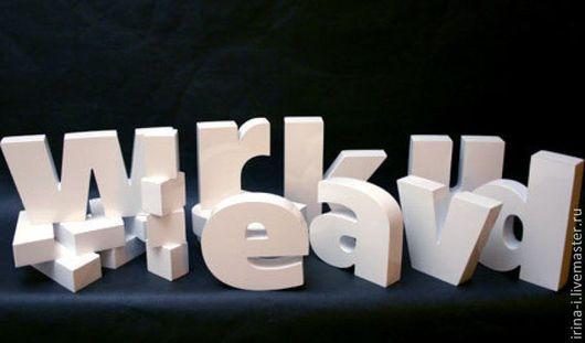 Другие виды рукоделия ручной работы. Ярмарка Мастеров - ручная работа. Купить Буквы и цифры из пенопласта. Handmade. Пенополистирол