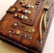 Канцелярские товары ручной работы. Ярмарка Мастеров - ручная работа Блокнот кожаный формата А6. Handmade.