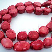 Материалы для творчества handmade. Livemaster - original item Natural coral large beads tablet 24-26mm. Handmade.
