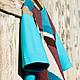 """Кофты и свитера ручной работы. Ярмарка Мастеров - ручная работа. Купить Шерстяной топ """"Лоскуты-Бирюза"""". Handmade. Тёмно-бирюзовый"""