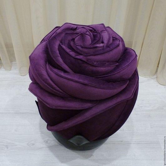 Мебель ручной работы. Ярмарка Мастеров - ручная работа. Купить Роза - пуф Фиолетовый, банкетка, мягкая, внутри деревянный каркас. Handmade.