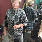 Одежда ручной работы. Ярмарка Мастеров - ручная работа шубка из серебристой каракульчи с норкой. Handmade.