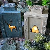 Сувениры и подарки handmade. Livemaster - original item Candle holder New Year`s lantern. Handmade.