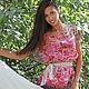 Большие размеры ручной работы. Ярмарка Мастеров - ручная работа. Купить Розовые розы. Батик блуза.. Handmade. Цветочный, бежевый
