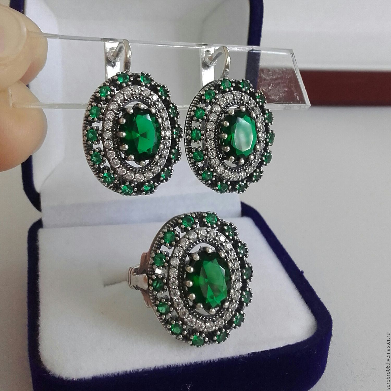 Фото серебряных женских комплектов