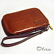 The man purse leather red, Classic Bag, Cheboksary,  Фото №1