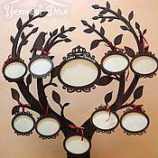 Сувениры и подарки handmade. Livemaster - original item Family tree with photo frames. Handmade.