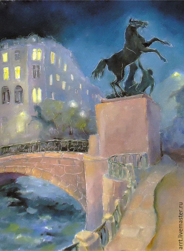 Anichkov bridge St. Petersburg, the Postcard and Print copyright, Pictures, St. Petersburg,  Фото №1