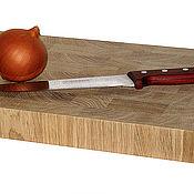Для дома и интерьера ручной работы. Ярмарка Мастеров - ручная работа Торцевая разделочная доска из дуба 400х250х40мм. Handmade.
