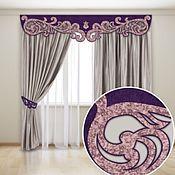 Для дома и интерьера handmade. Livemaster - original item Set of curtains with lace swags. Handmade.